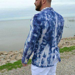 Saks Silk Blazer Coat navy Purple Med Large 42 44